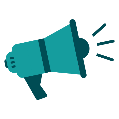 Megaphone icon for the spreading awareness