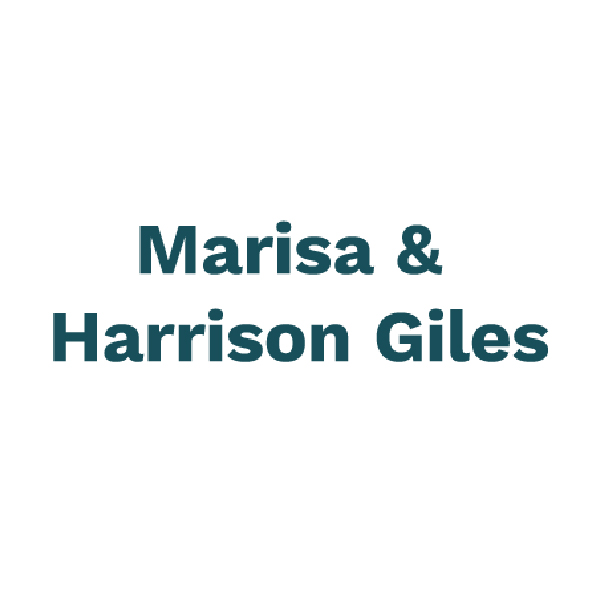 Marisa and Harrison Giles logo