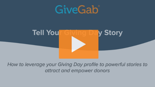 Tell Your Giving Day Story